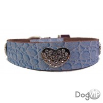COLLIER CROCO BLEU